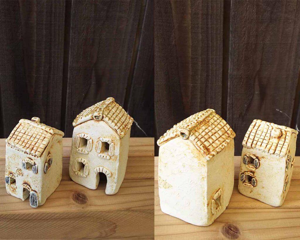 陶器のミニチュアハウス